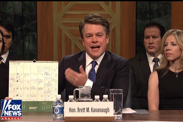 saturday night live brett kavanaugh matt damon adam driver