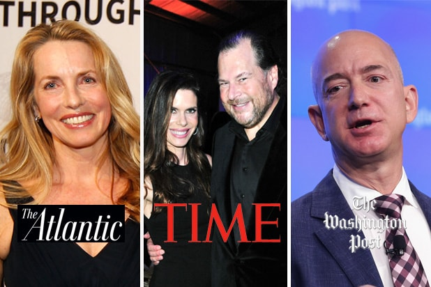 tech mogul legacy media laurene powell jobs marc lynne benioff jeff bezos atlantic time washington post