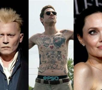 Celebrity Tattoo Removal Johnny Depp Pete Davidson Angelina Jolie