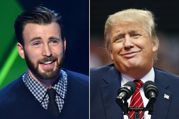 chris evans compares trump to dog poo twitter barks with laughter