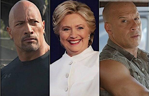 Dwayne Johnson Hillary Clinton Vin Diesel
