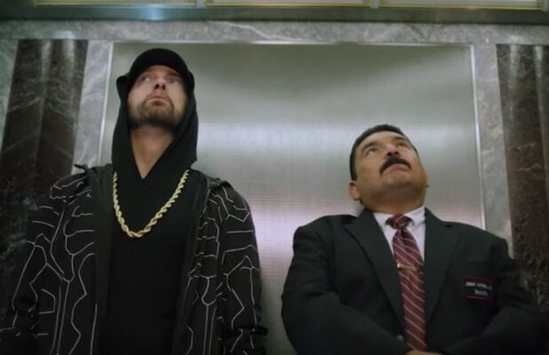 Eminem and Guillermo at the Empire State Building - 'Jimmy Kimmel Live'