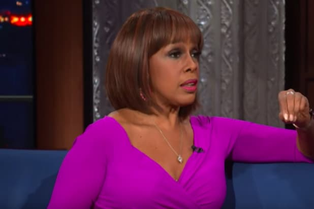 Gayle King on 'The Late Show'