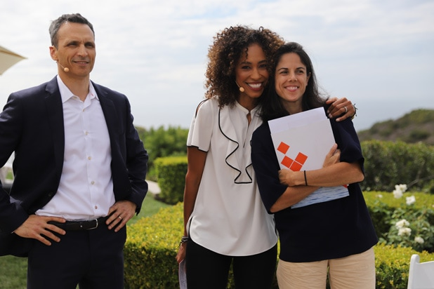 Jimmy Pitaro, Sage Steele and Rachel Epstein espnW