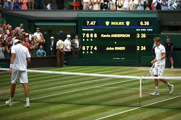 John Isner Kevin Anderson Wimbledon