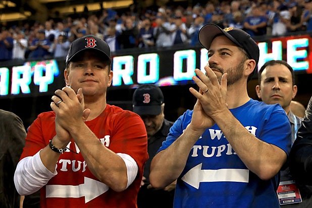 Matt Damon and Jimmy Kimmel World Series