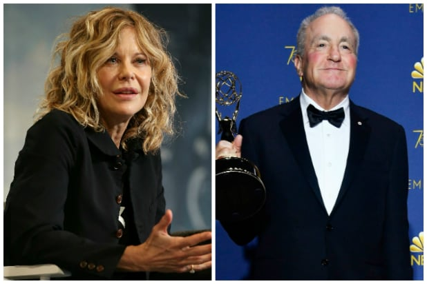 Meg Ryan and Lorne Michaels
