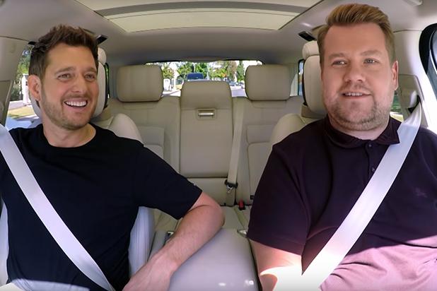 Watch Michael Buble Serenade James Corden In Carpool Karaoke