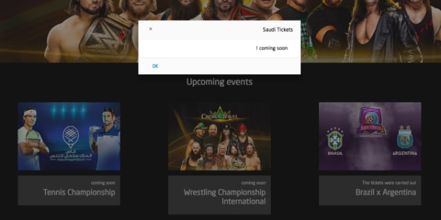WWE Saudi Arabia tickets