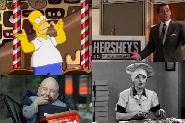 Simpsons Mad Med Goldfinger I Love Lucy Chocolate