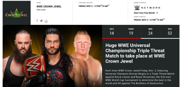 WWE.com - Crown Jewel
