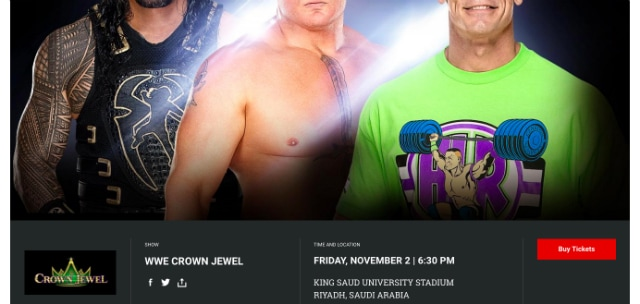 WWE 'Crown Jewel' Event to Go on as Planned in Saudi Arabia