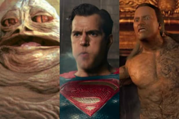 bad movie cgi the rock in the mummy returns superman's cgi mouth jabba the hutt star wars special edition