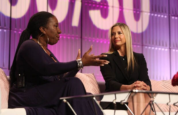 Tarana Burke Mira Sorvino Power Women's Summit 2018