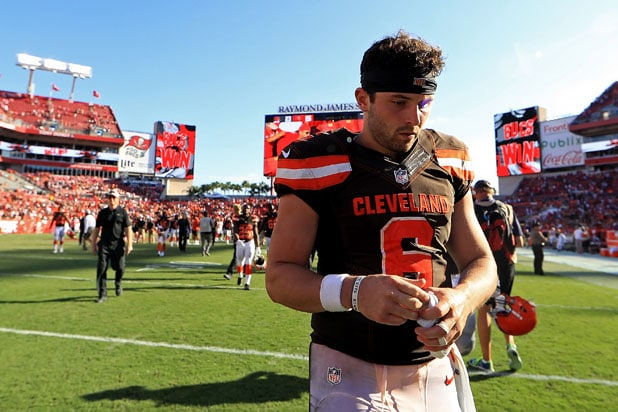 new concept d8dab 78a4f Baker Mayfield Partners With Barstool Sports for Special ...