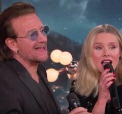 Bono and Kristen Bell on 'Jimmy Kimmel Live'