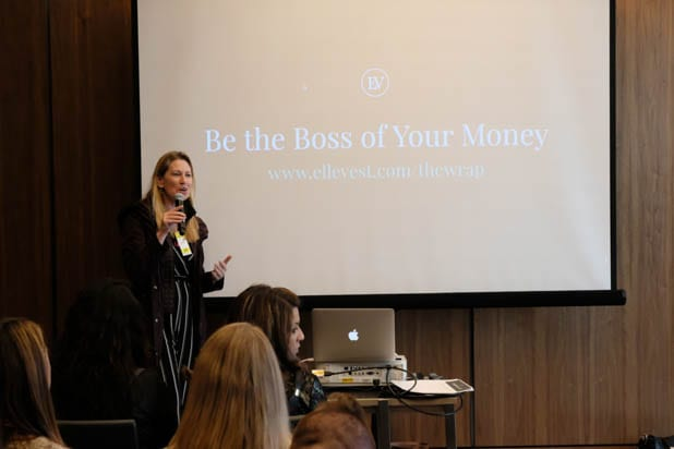 power women summit Lisa Stone Introduces the breakout session How To Be a Boss: A Financial Workshop