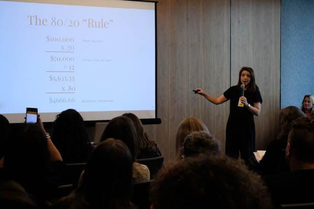power women summit How to Be a Boss Financial Workshop, presented by Ellevest's Debbie Wissel