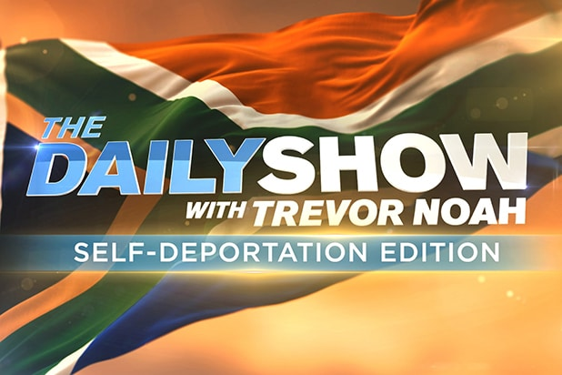The Daily Show With Trevor Noah Self-Deportation Edition