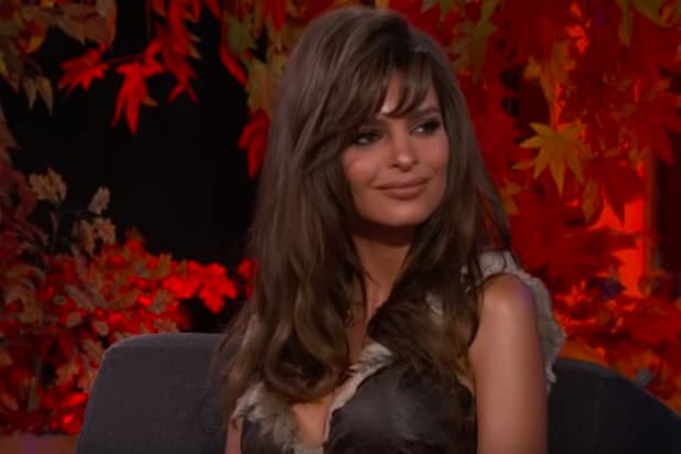 Emily Ratajkowski on 'Jimmy Kimmel Live'