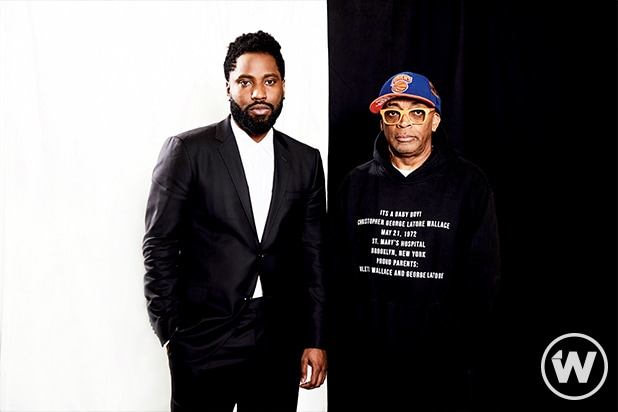 John David Washington and Spike Lee, BlacKkKlansman