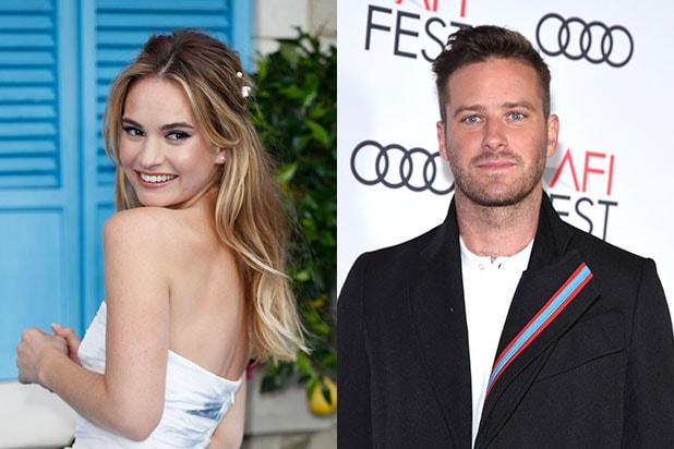 Lily James Armie Hammer Rebecca
