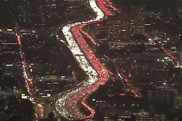 Los Angeles Traffic Thanksgiving
