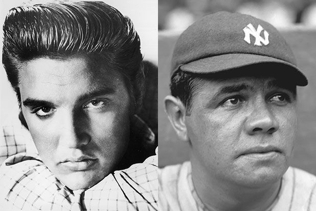 elvis presley babe ruth trump presidential medal of freedom