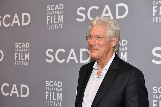 Richard Gere accepts Lifetime Award onstage at Trustees Theater