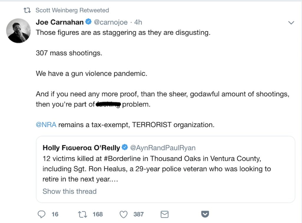 Joe Carnahan Tweet