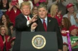 Sean Hannity at Trump Rally