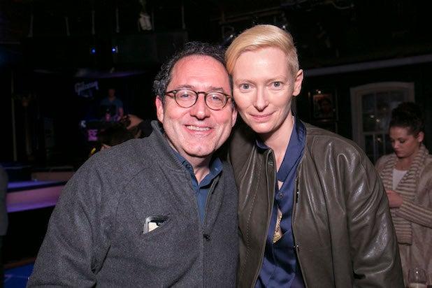 Michael Barker with Tilda Swinton