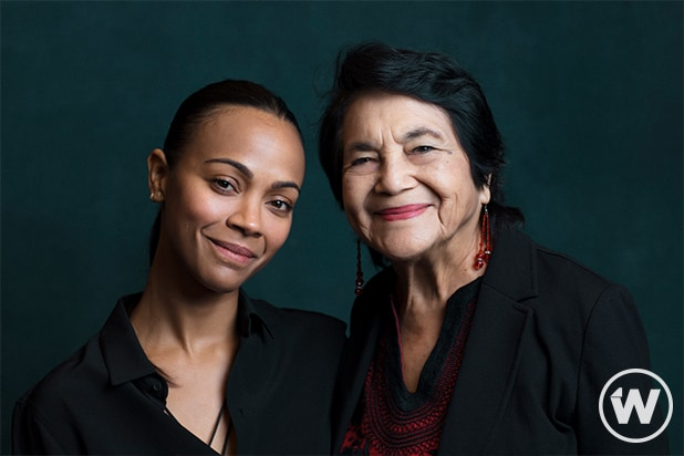 Zoe Saldana and Dolores Huerta, Power Women Summit