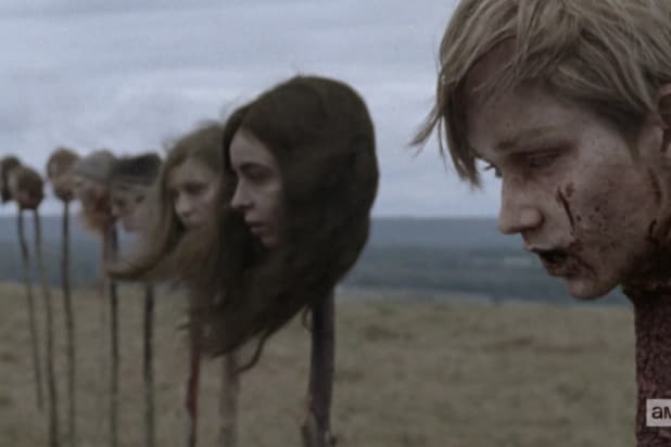 the walking dead twd deaths whisperers heads on spikes