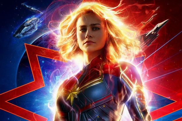 Captain Marvel Second Poster Crop Brie Larson