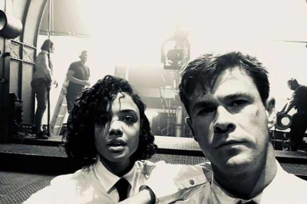 Chris Hemsworth and Tessa Thompson Men in Black International first trailer