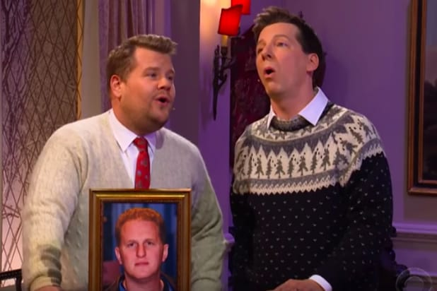 3c448fdb0 Sean Hayes and James Corden Sing Christmas Ode to Michael Rapaport