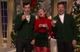 Mark Ronson, Miley Cyrus and Jimmy Fallon