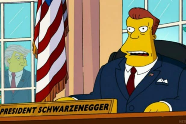 Simpsons President Schwarzenegger