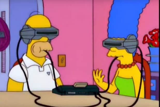 Simpsons virtual reality VR Food
