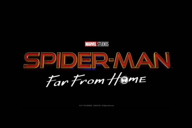 Spider-Man Far From Home First Trailer logo