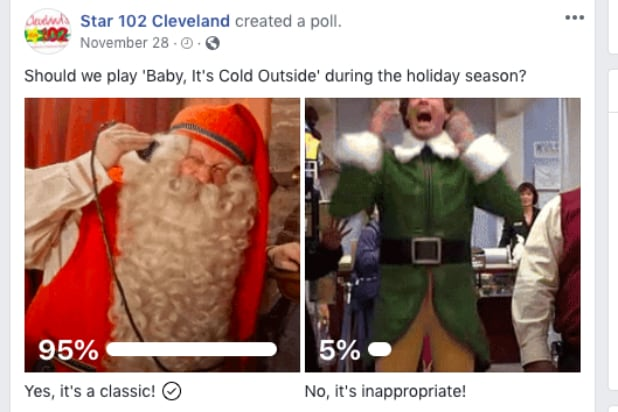 Cleveland's Star 102 Facebook poll