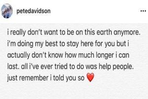 Pete Davidson tweet