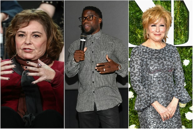 Roseanne, Kevin Hart and Bette Midler
