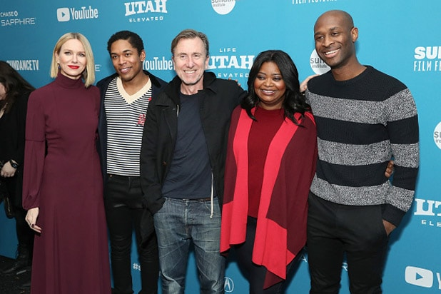 "PARK CITY, UT - JANUARY 27: (L-R) Actors Naomi Watts, Kelvin Harrison Jr., Tim Roth, and Octavia Spencer and director/writer Julius Onah attend the ""Luce"" Premiere during the 2019 Sundance Film Festival at Library Center Theater on January 27, 2019 in Park City, Utah."