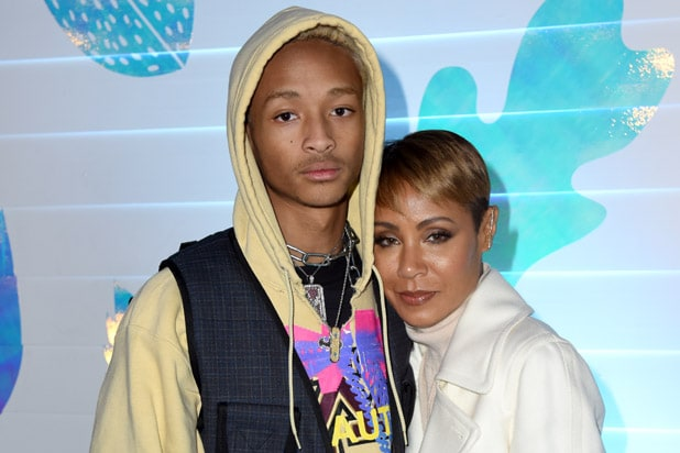 PARK CITY, UTAH - JANUARY 26: Jaden Smith (L) and Jada Pinkett Smith at the Hala party at DIRECTV Lodge presented by AT&T at Sundance Film Festival 2019 on January 26, 2019 in Park City, Utah.
