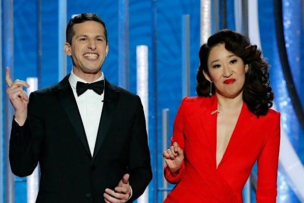 66000762ca6 Golden Globes  Andy Samberg and Sandra Oh s Best Jokes