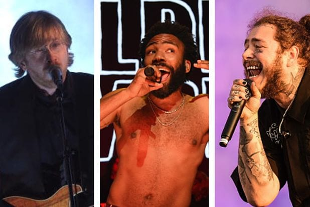 Bonnaroo 2019 Phish Childish Gambino Post Malone headliners