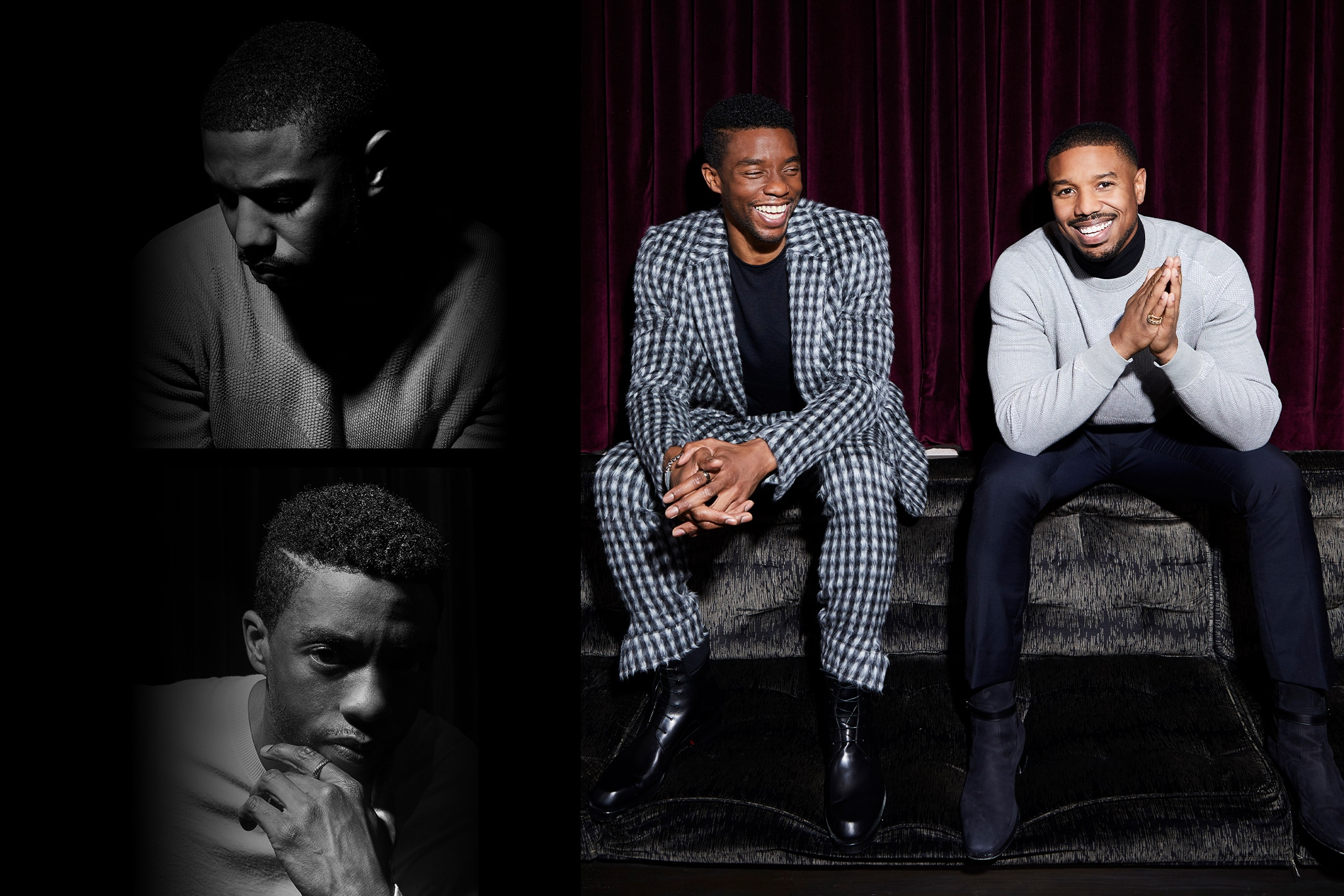 4eae187602c 'Black Panther' Stars Chadwick Boseman and Michael B Jordan on 'Broadening  People's Bandwidth'