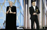 Glenn Close and Rami Malek at the Golden Globes